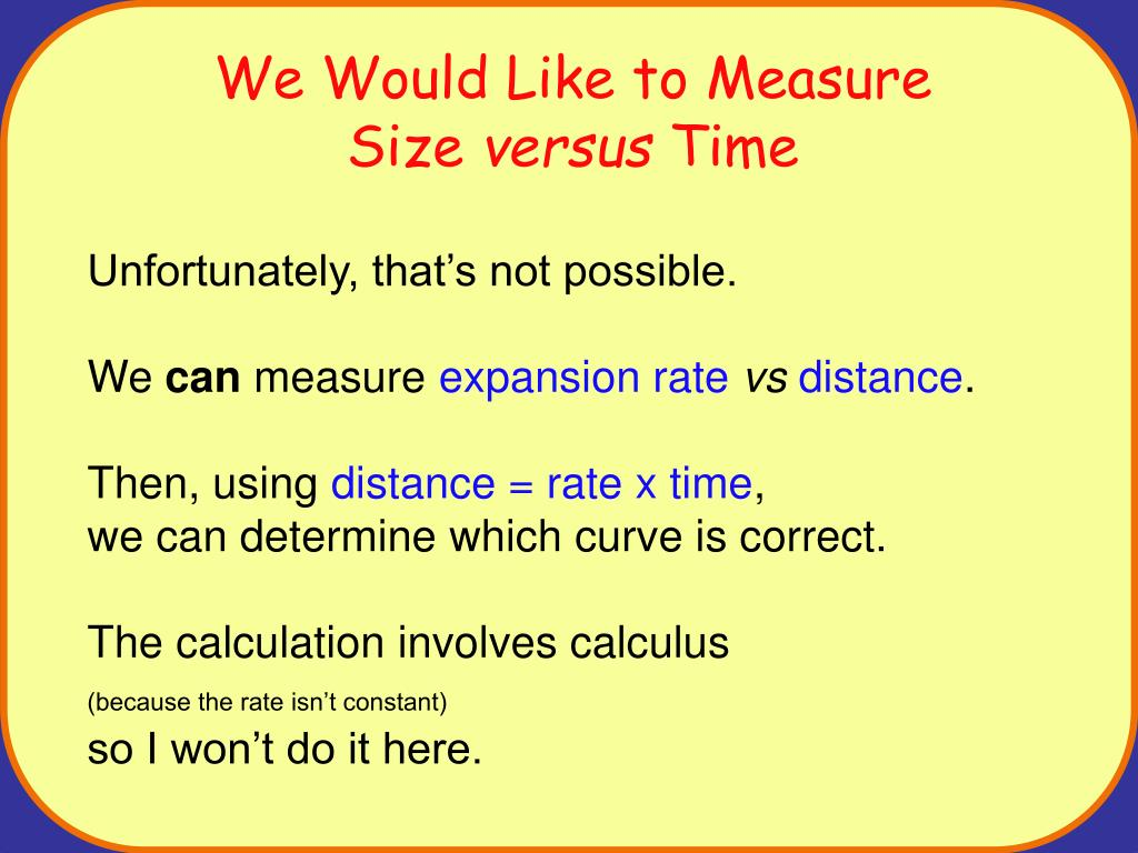 We Would Like to Measure
