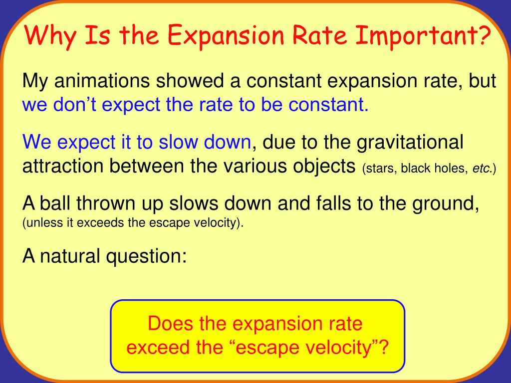 Does the expansion rate