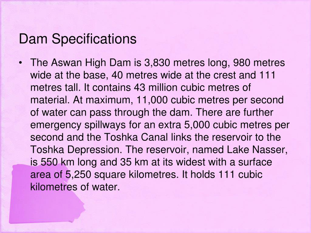 Dam Specifications