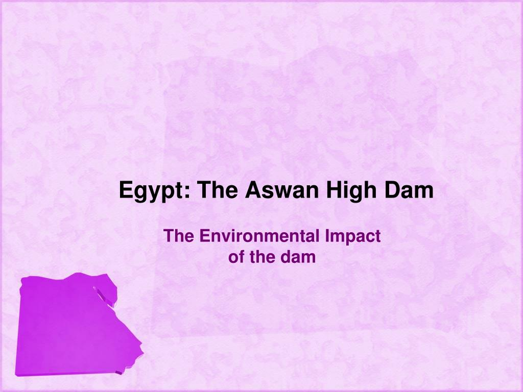 Egypt: The Aswan High Dam