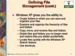 defining file management cont