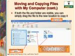 moving and copying files with my computer cont