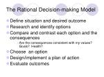 the rational decision making model