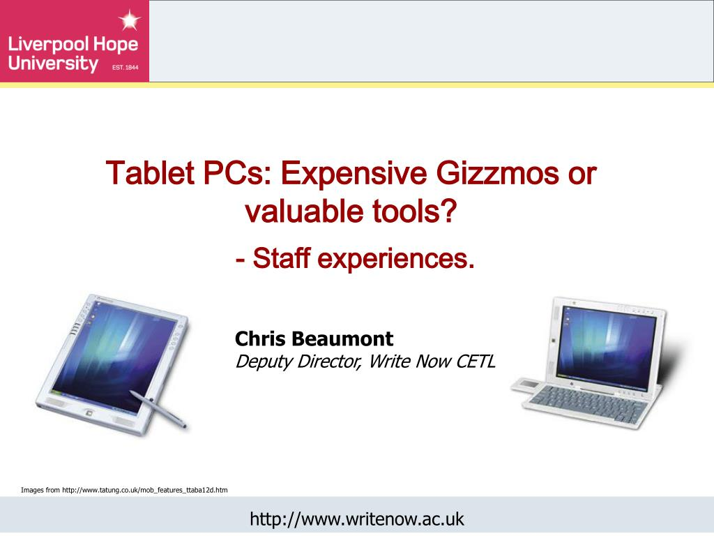 tablet pcs expensive gizzmos or valuable tools staff experiences l.