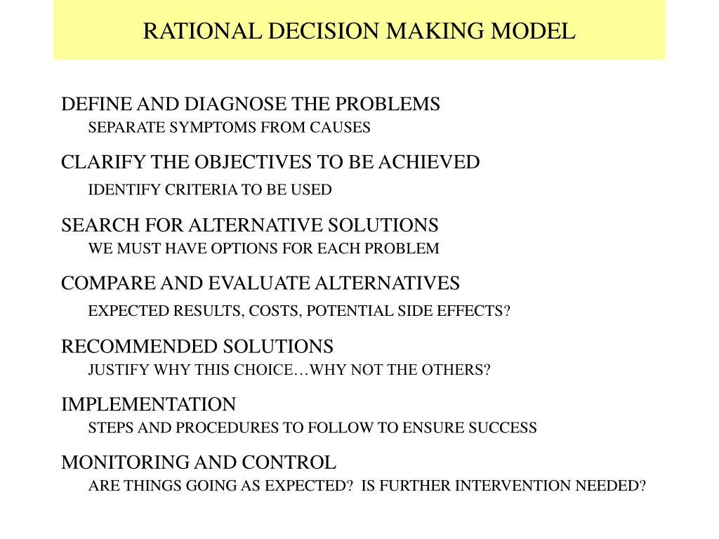 RATIONAL DECISION MAKING MODEL
