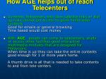 how age helps out of reach telecenters