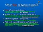 other free software included all links here are valid only if the software had been installed first