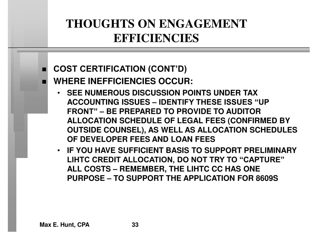 THOUGHTS ON ENGAGEMENT EFFICIENCIES