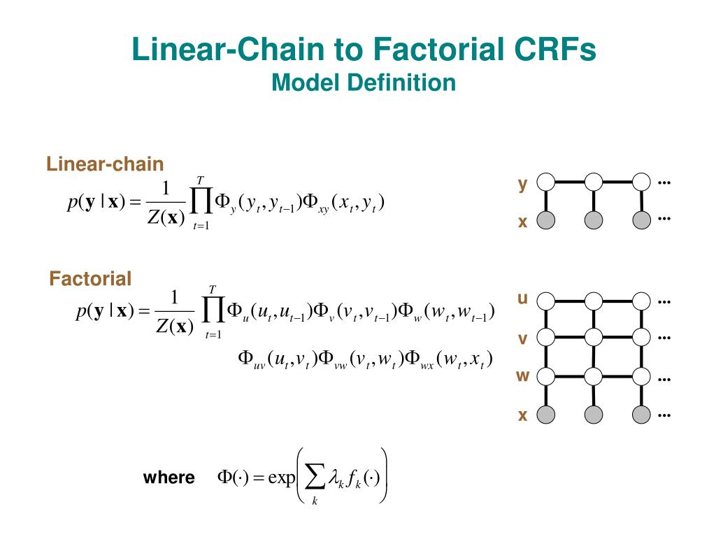 Linear-Chain to Factorial CRFs