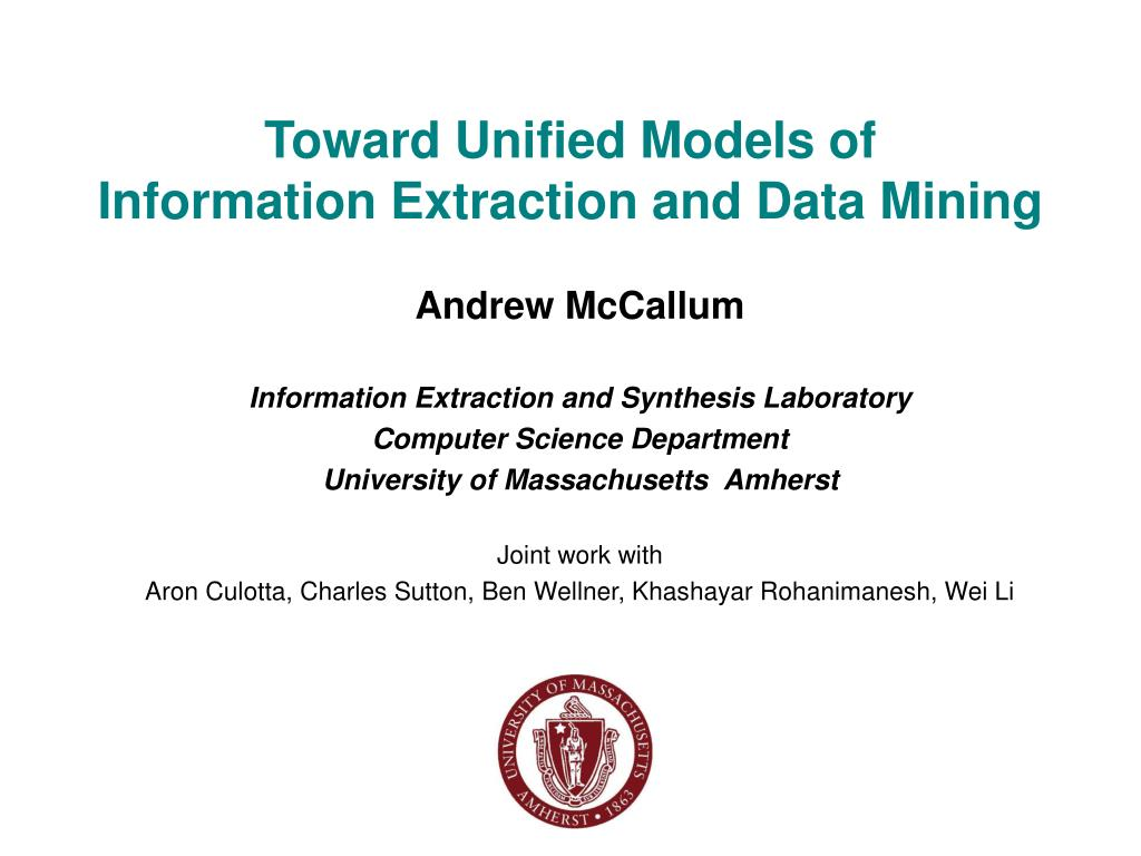 Toward Unified Models of