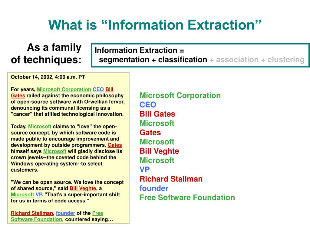 "What is ""Information Extraction"""