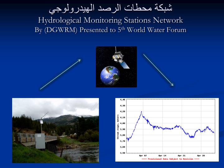 Hydrological monitoring stations network by dgwrm presented to 5 th world water forum