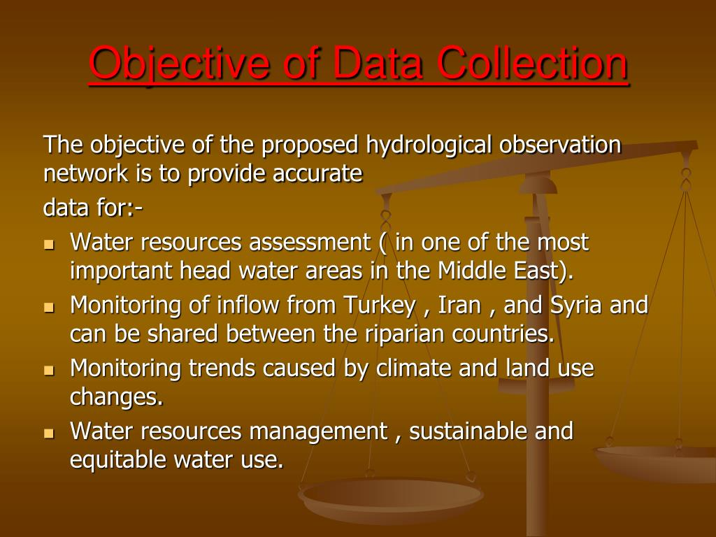 Objective of Data Collection