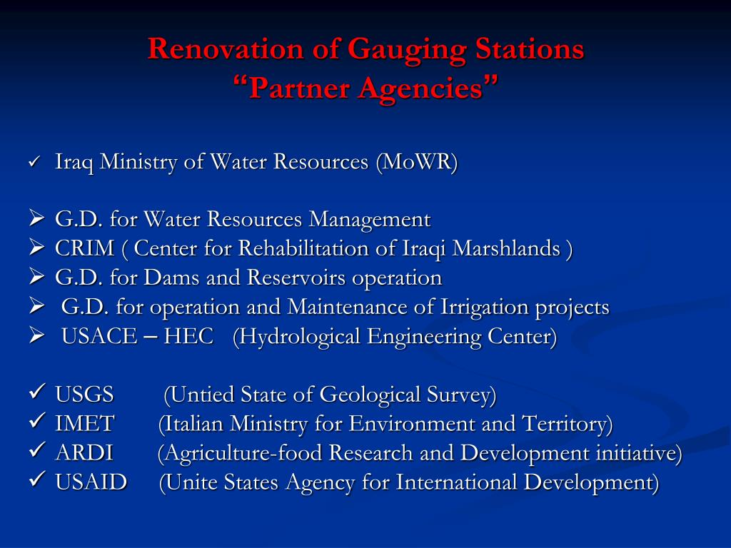 Renovation of Gauging Stations