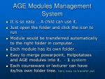 age modules management system