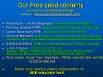 our free seed contents all free for unlimited downloads website www paperlesshomework com