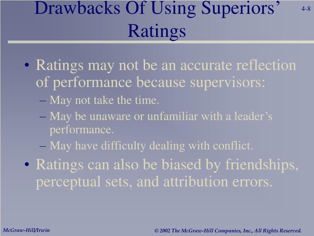 Drawbacks Of Using Superiors' Ratings