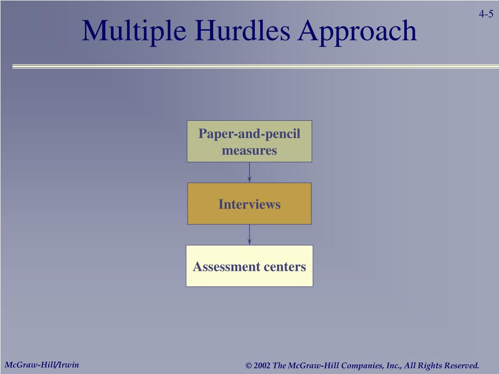 Multiple Hurdles Approach