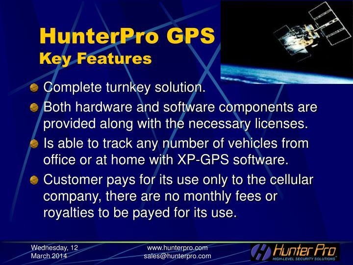 Hunterpro gps key features