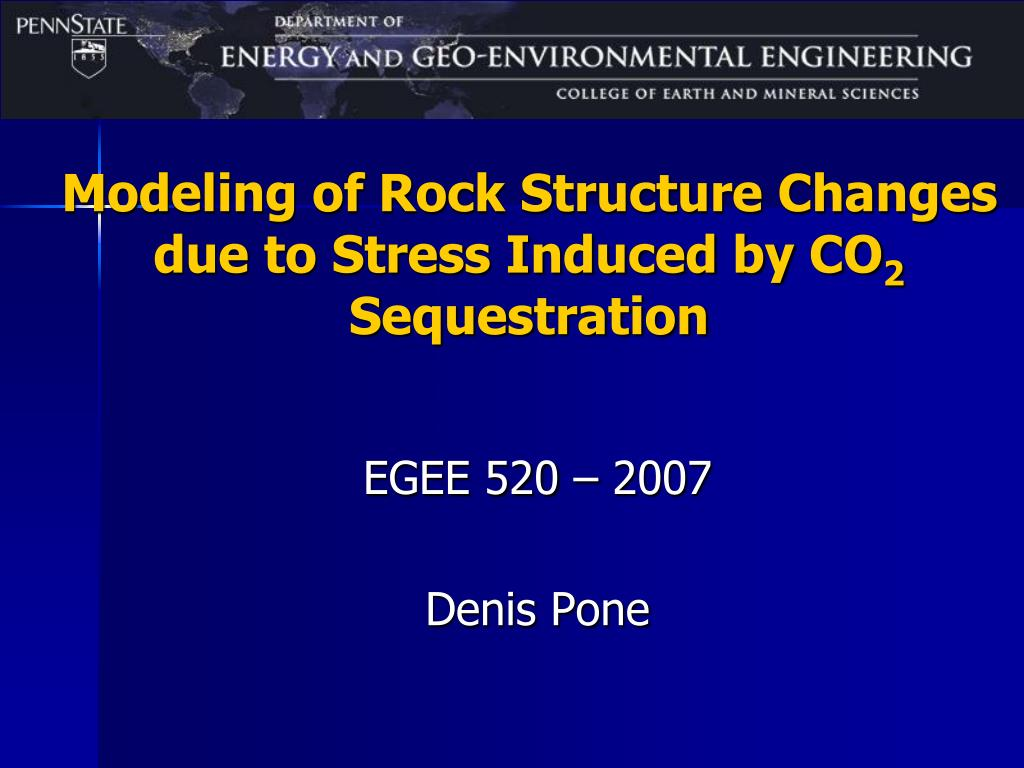modeling of rock structure changes due to stress induced by co 2 sequestration