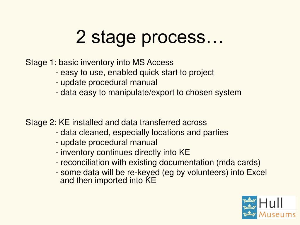 2 stage process…