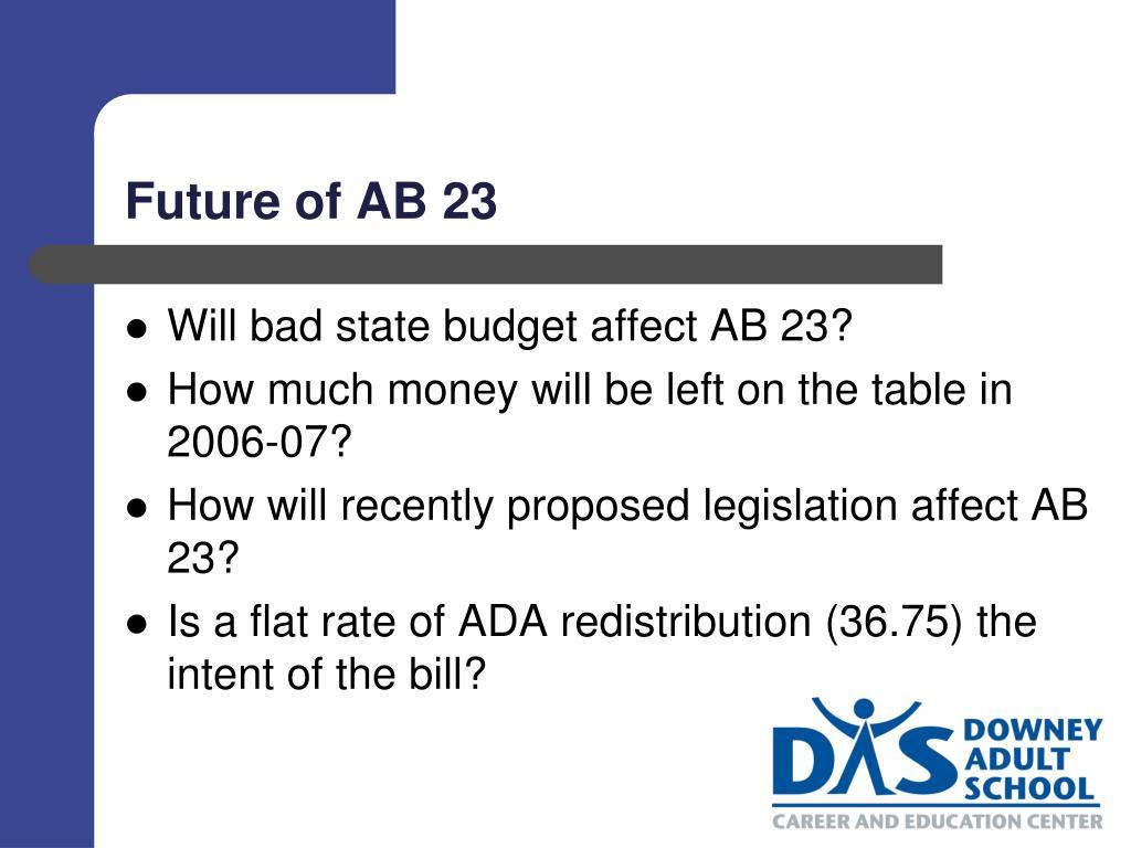 Future of AB 23