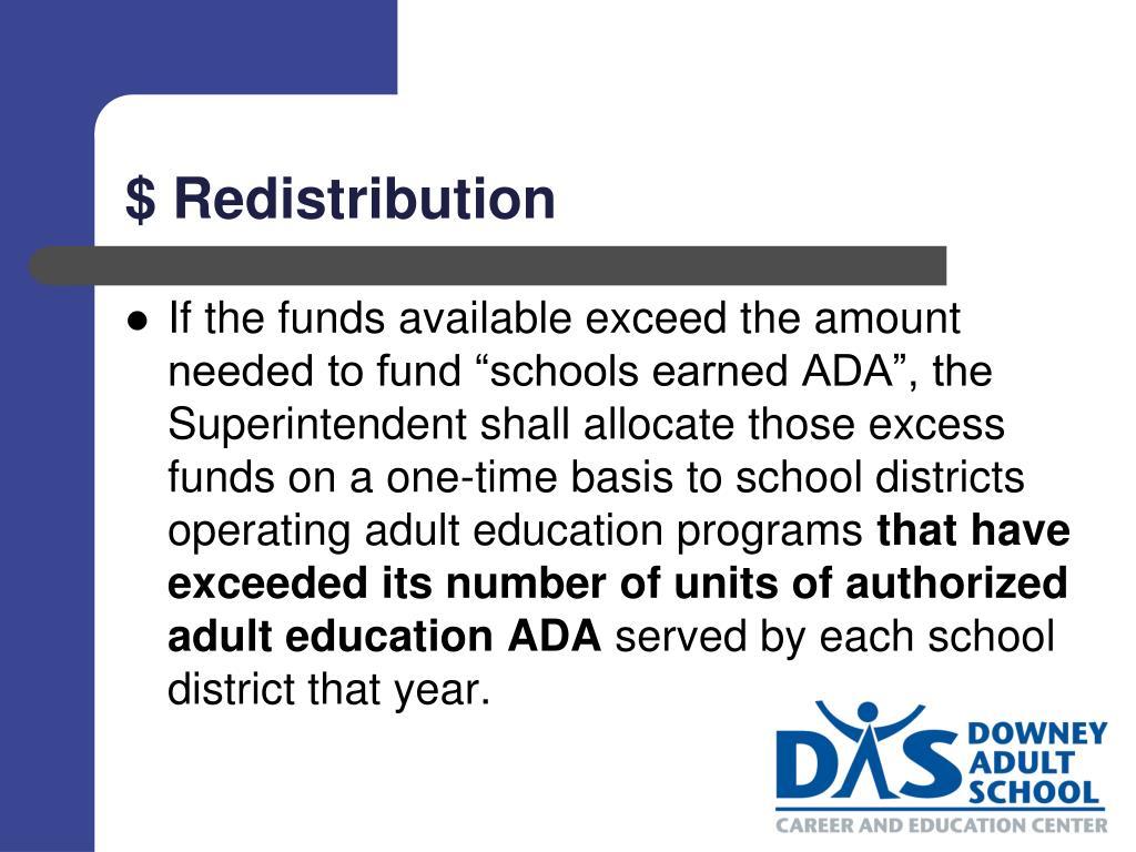 $ Redistribution