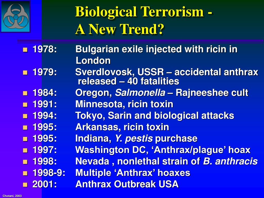 Biological Terrorism -