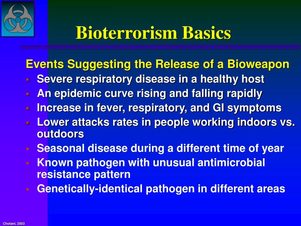 Bioterrorism Basics