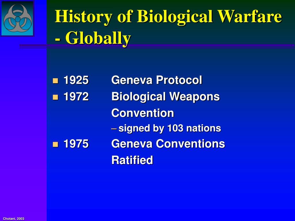 History of Biological Warfare - Globally