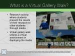 what is a virtual gallery walk
