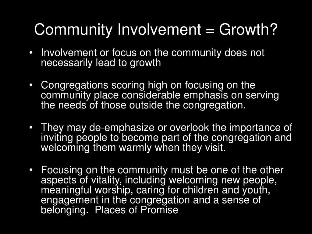 Community Involvement = Growth?