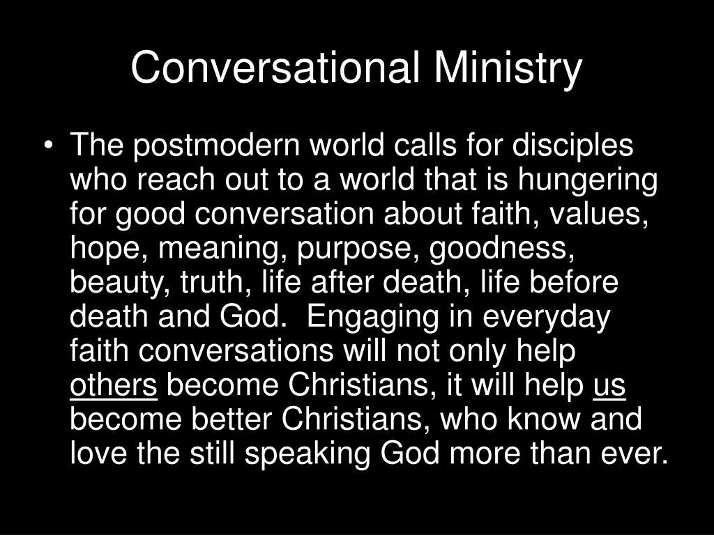 Conversational Ministry