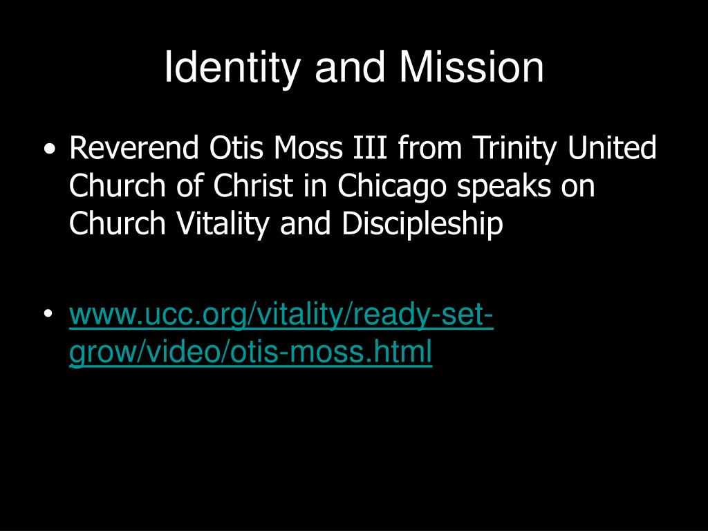 Identity and Mission