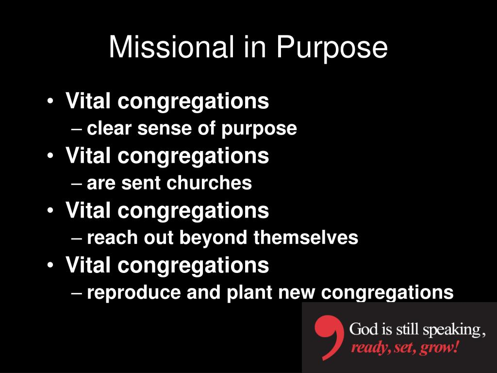 Missional in Purpose