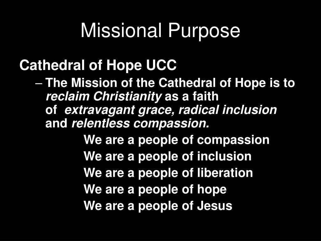 Missional Purpose
