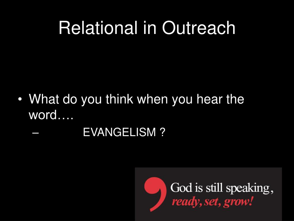 Relational in Outreach