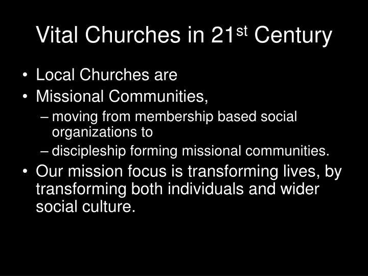 Vital churches in 21 st century