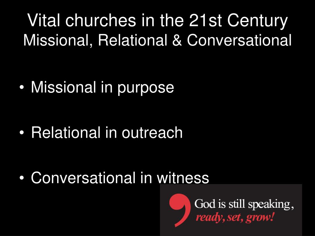Vital churches in the 21st Century