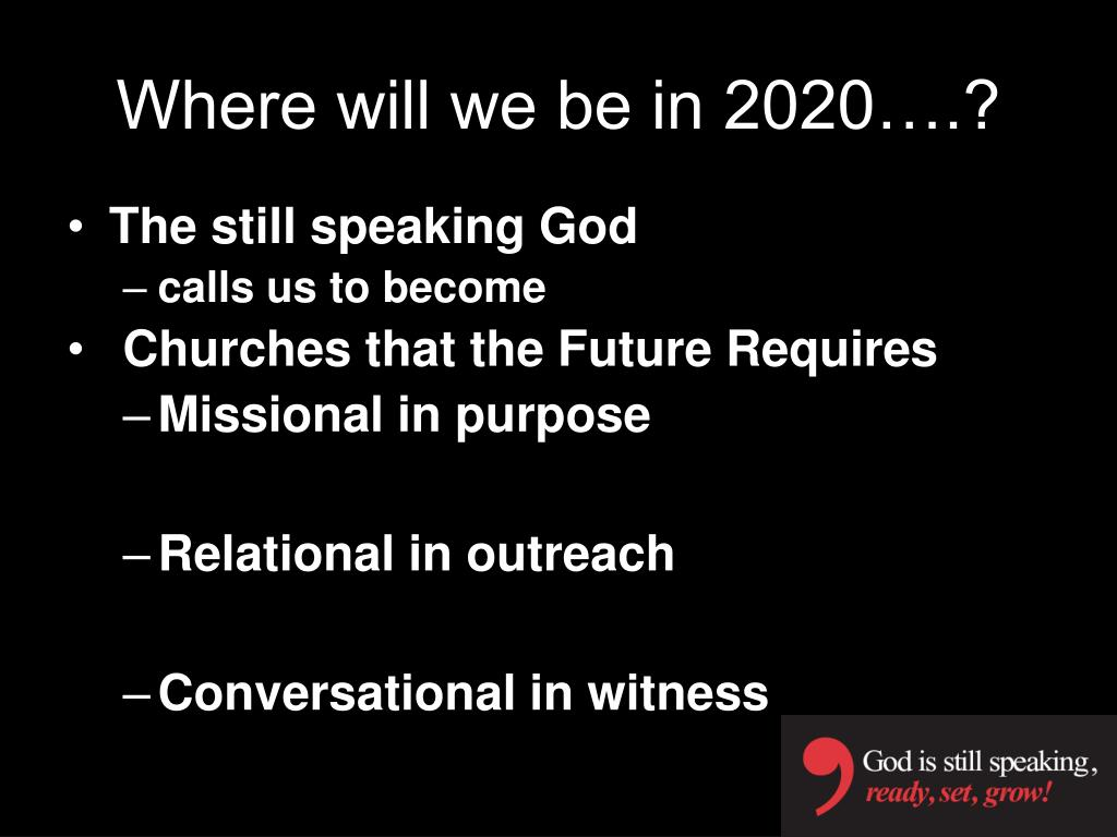 Where will we be in 2020….?