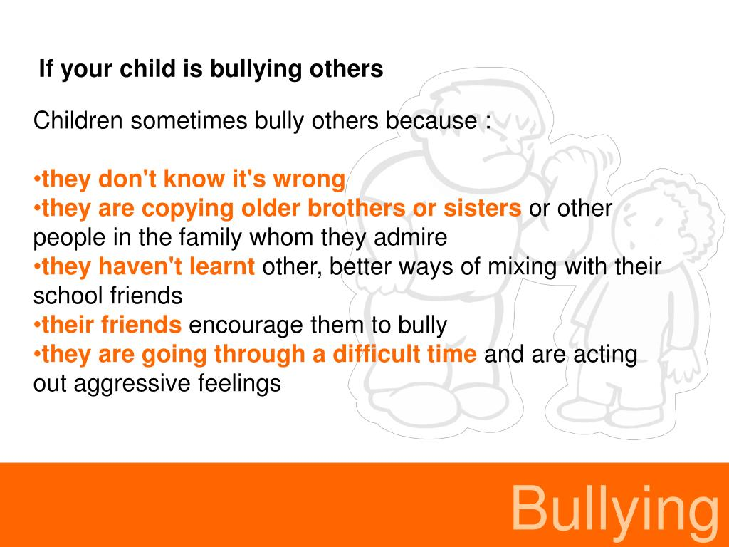 If your child is bullying others
