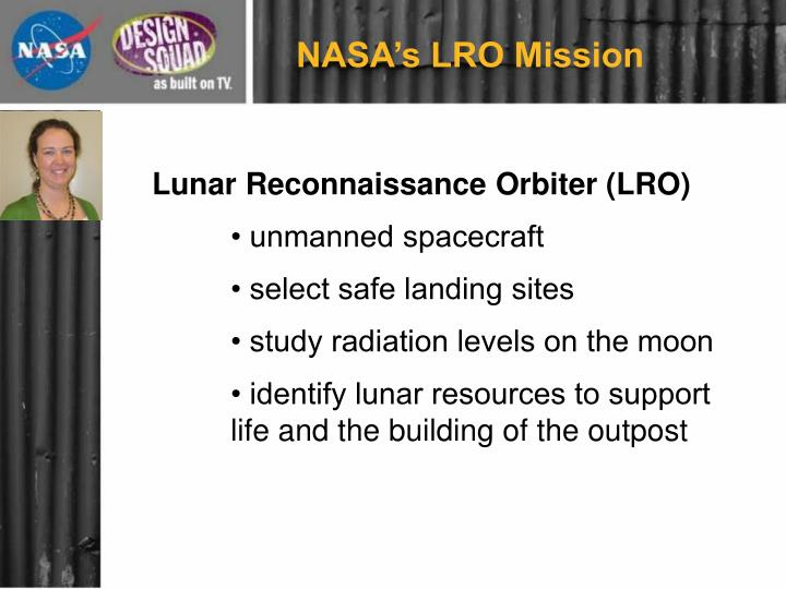 NASA's LRO Mission