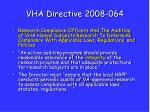 vha directive 2008 064