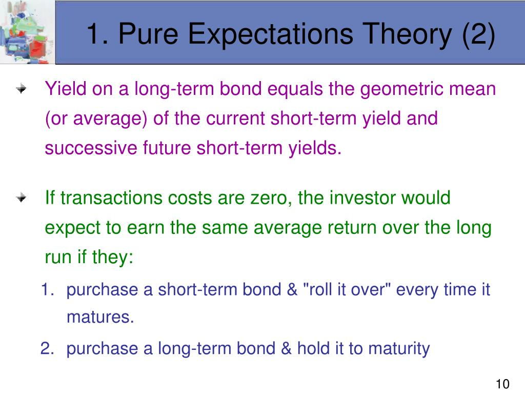 1. Pure Expectations Theory (2)