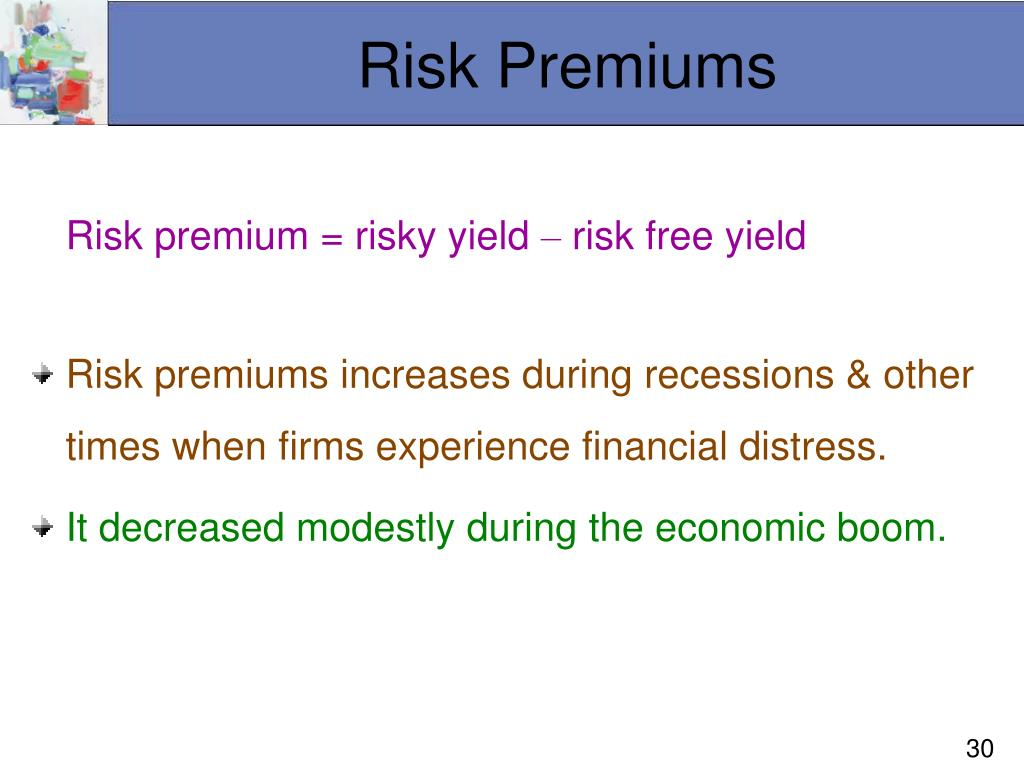 Risk Premiums