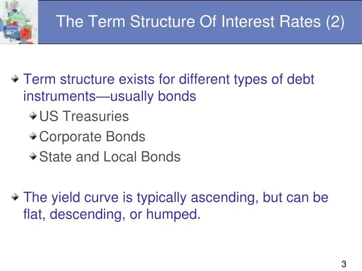 The term structure of interest rates 2