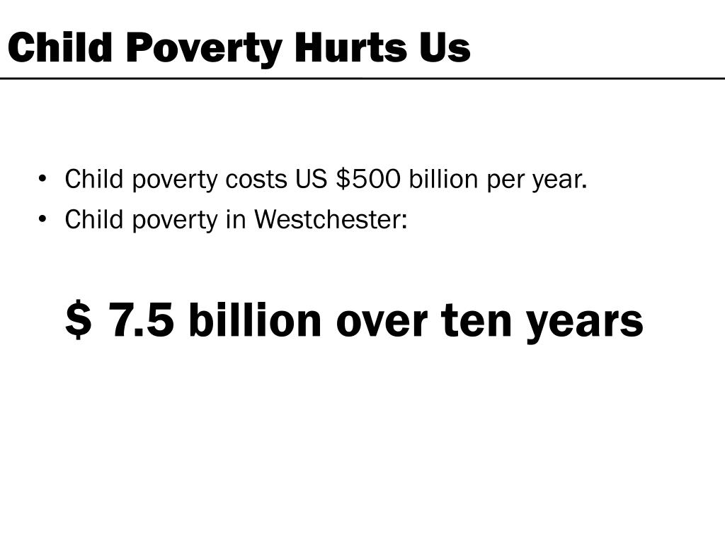 Child Poverty Hurts Us