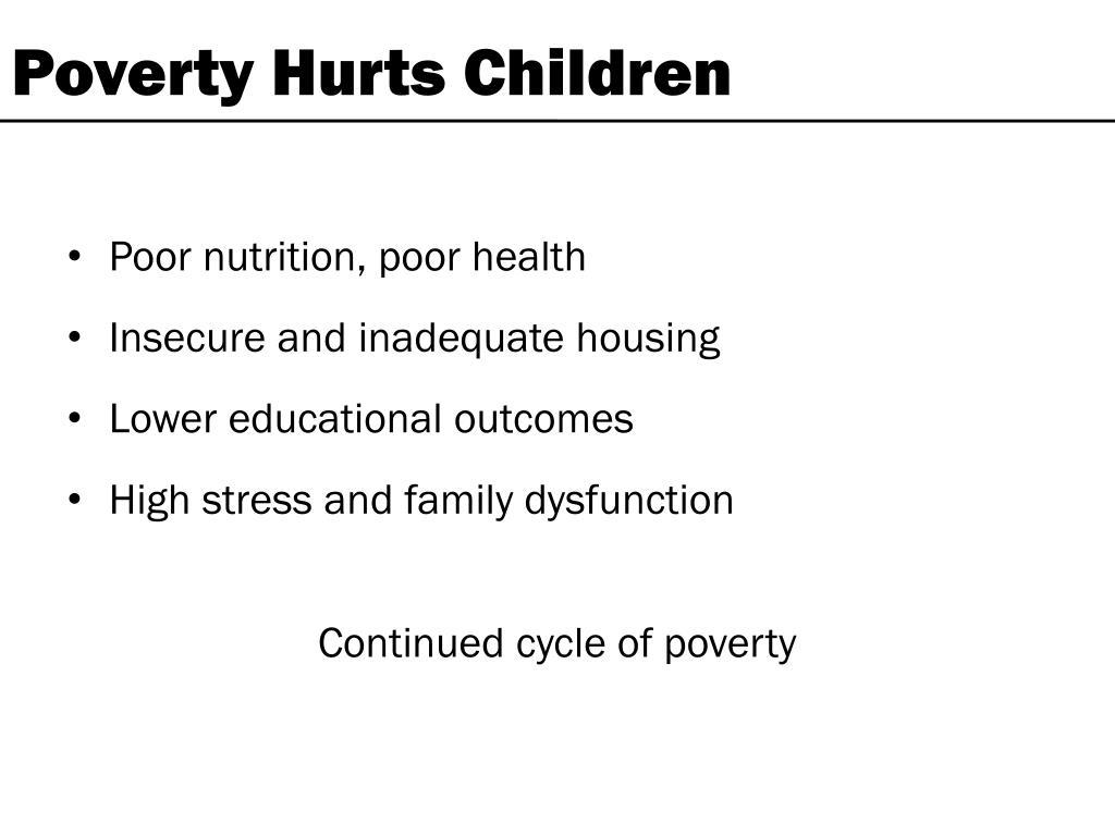 Poverty Hurts Children
