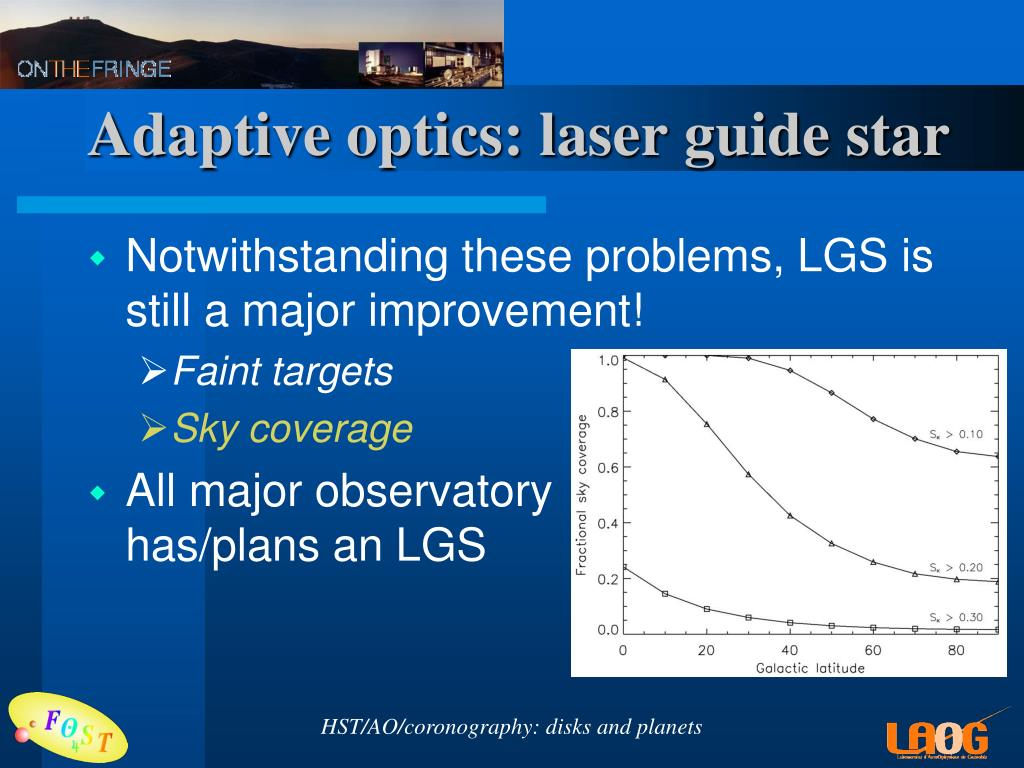Adaptive optics: laser guide star