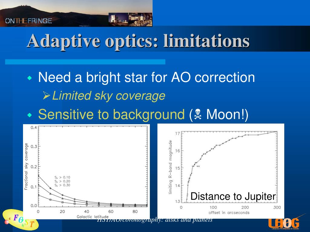 Adaptive optics: limitations